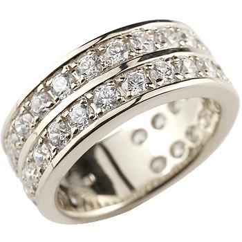 ハーフエタニティ キュービックジルコニア リング 指輪 シルバーリング 幅広 指輪 ストレート 2.3 妻 嫁 奥さん 女性 彼女 娘 母 祖母 パートナー 送料無料