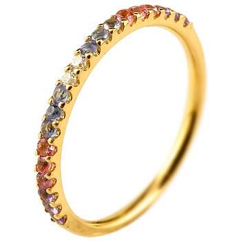 ピンキーリング ダイヤモンド エタニティ ハーフエタニティ リング アメジスト 指輪 イエローゴールドk10 10金 ダイヤ ストレート 宝石