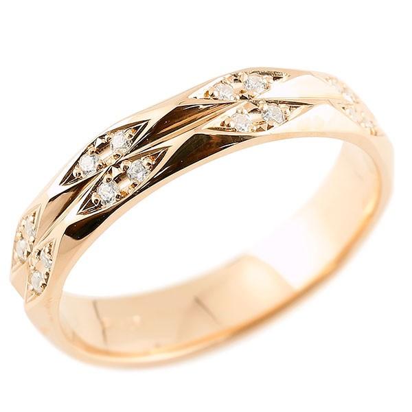 指輪 キュービックジルコニア ピンクゴールドk18 cz リング 指輪 婚約指輪 カットリング 菱形 18金 妻 嫁 奥さん 女性 彼女 娘 母 祖母 パートナー