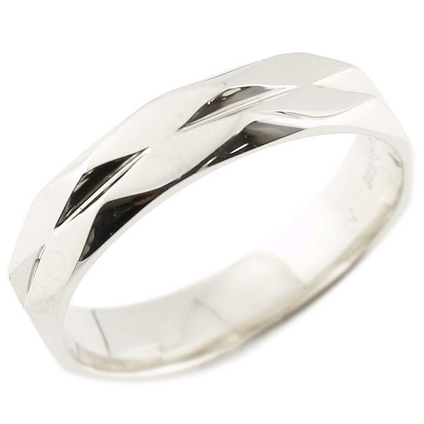 指輪 ホワイトゴールドk18 ダイヤ柄 リング 指輪 婚約指輪 カットリング 菱形 地金 18金 妻 嫁 奥さん 女性 彼女 娘 母 祖母 パートナー