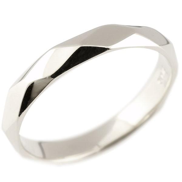 ピンキーリング ホワイトゴールドk18 ダイヤ柄 リング 指輪 婚約指輪 カットリング 菱形 地金 18金 妻 嫁 奥さん 女性 彼女 娘 母 祖母 パートナー