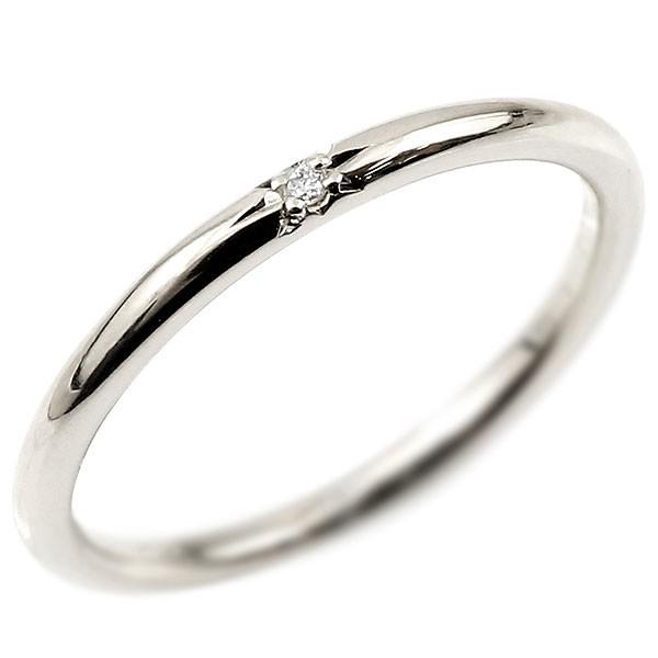 ピンキーリング ダイヤモンド ホワイトゴールドk18 18金 極細 華奢 一粒 ダイヤ 指輪 婚約指輪 エンゲージリング ダイヤリング 妻 嫁 奥さん 女性 彼女 娘 母 祖母 パートナー