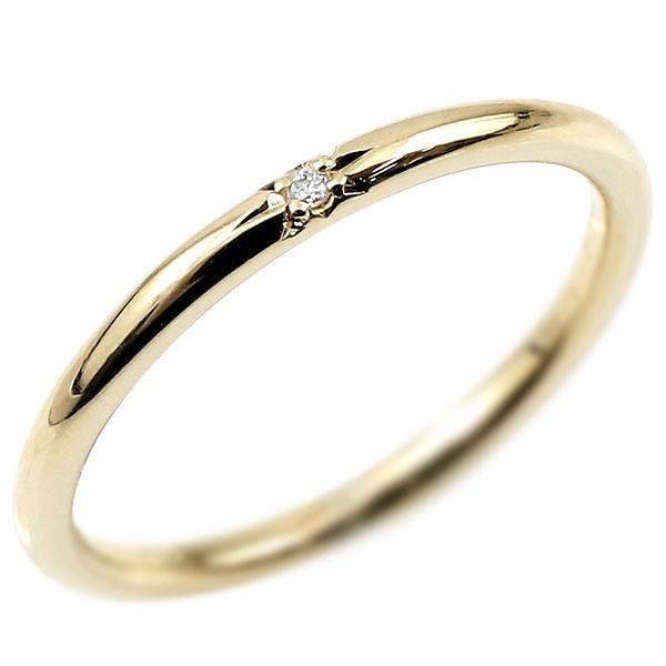 ピンキーリング ダイヤモンド イエローゴールドk10 10金 極細 華奢 ダイヤ 一粒 指輪 婚約指輪 エンゲージリング ダイヤリング 妻 嫁 奥さん 女性 彼女 娘 母 祖母 パートナー