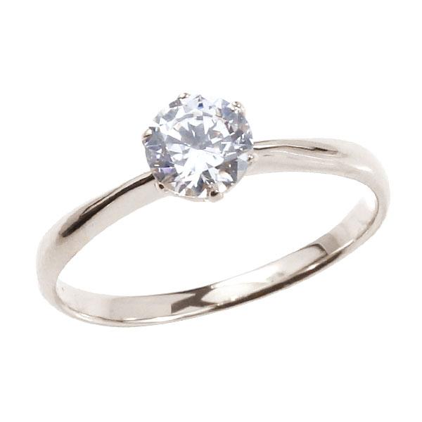 エンゲージリング プラチナ ダイヤモンド ピンキーリング 大粒 一粒 指輪 婚約指輪 リング ストレート 妻 嫁 奥さん 女性 彼女 娘 母 祖母 パートナー