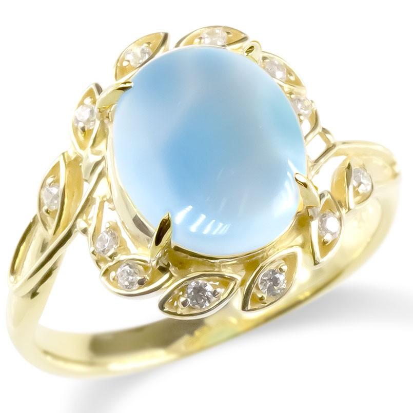 婚約指輪 安い 18金 リング ラリマー キュービックジルコニア レディース 指輪 ゴールド 18K イエローゴールドk18 エンゲージリング ピンキーリング 送料無料