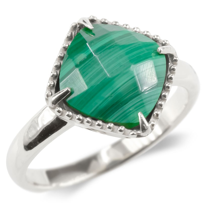 婚約指輪 安い プラチナ リング マラカイト レディース 指輪 pt900 ミル打ち エンゲージリング ピンキーリング アンティーク シンプル リング 女性 送料無料