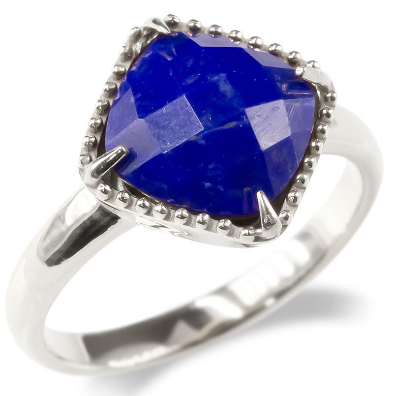 婚約指輪 安い プラチナ リング ラピスラズリ レディース 指輪 pt900 ミル打ち エンゲージリング ピンキーリング アンティーク シンプル リング 女性 送料無料
