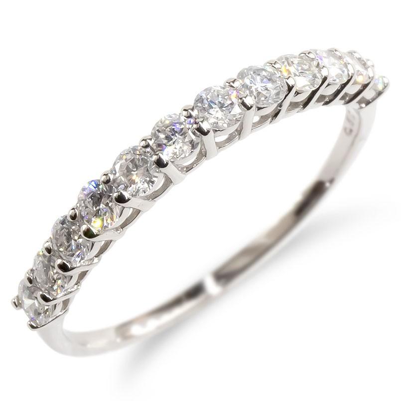 婚約指輪 安い プラチナ リング レディース ダイヤモンド 0.5ct エンゲージリング ダイヤ ハーフエタニティ 指輪 ピンキーリング pt900 宝石 女性 送料無料