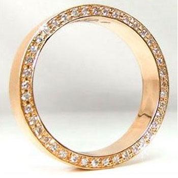 ピンキーリング ダイヤモンド エタニティ リングピンクゴールドK18指輪K18 豪華なエタニティ記念リング 18金 ダイヤ ストレート