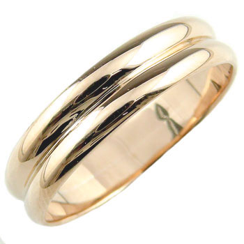 指輪 ピンキーリング ピンクゴールドk18 k18 地金リング 宝石なし 18金 ストレート レディース 最短納期 送料無料