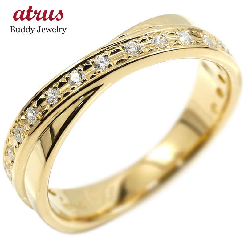 婚約指輪 リング イエローゴールドk18 ダイヤモンド ピンキーリング ダイヤ 指輪 エンゲージリング 18金 宝石 レディース 妻 嫁 奥さん 女性 彼女 娘 母 祖母 パートナー