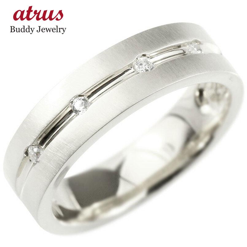 婚約指輪 プラチナリング ダイヤモンド エンゲージリング ダイヤ 指輪 幅広 ホーニング加工 つや消し ピンキーリング pt900 宝石 レディース