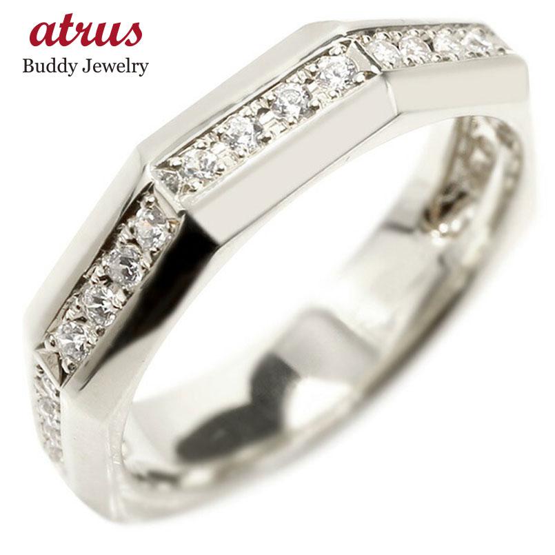 婚約指輪 リング ホワイトゴールドk10 キュービックジルコニア エンゲージリング 指輪 ピンキーリング 10金 宝石 レディース 送料無料