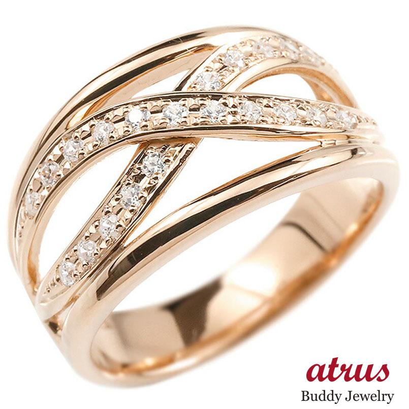 婚約指輪 リング ピンクゴールドk10 ダイヤモンド エンゲージリング ダイヤ 指輪 幅広 ピンキーリング 10金 宝石 レディース 妻 嫁 奥さん 女性 彼女 娘 母 祖母 パートナー