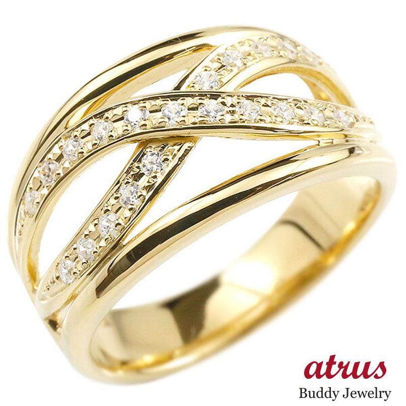婚約指輪 リング イエローゴールドk18 キュービックジルコニア エンゲージリング 指輪 幅広 ピンキーリング 18金 レディース 妻 嫁 奥さん 女性 彼女 娘 母 祖母 パートナー