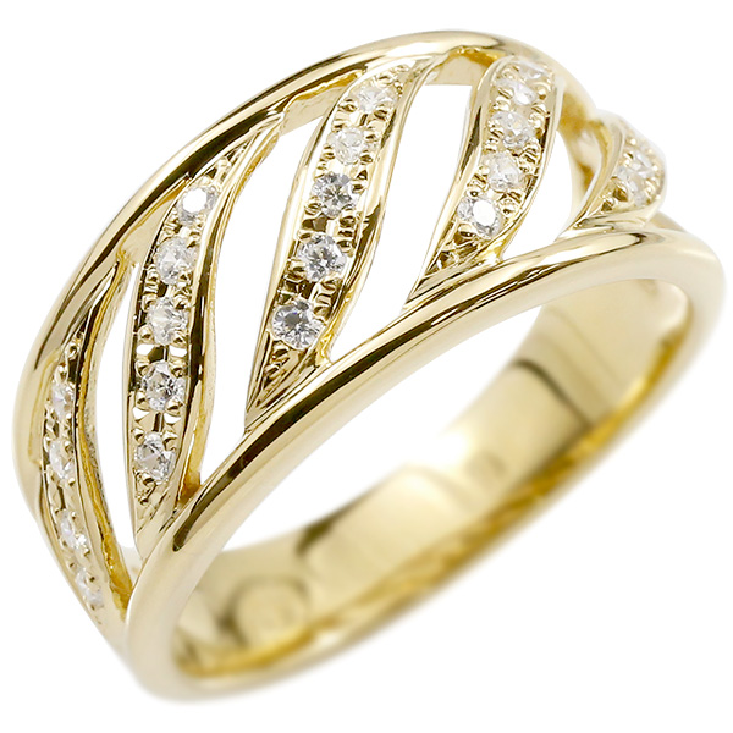 婚約指輪 リング イエローゴールドk10 キュービックジルコニア エンゲージリング 指輪 幅広 ピンキーリング 10金 レディース 妻 嫁 奥さん 女性 彼女 娘 母 祖母 パートナー