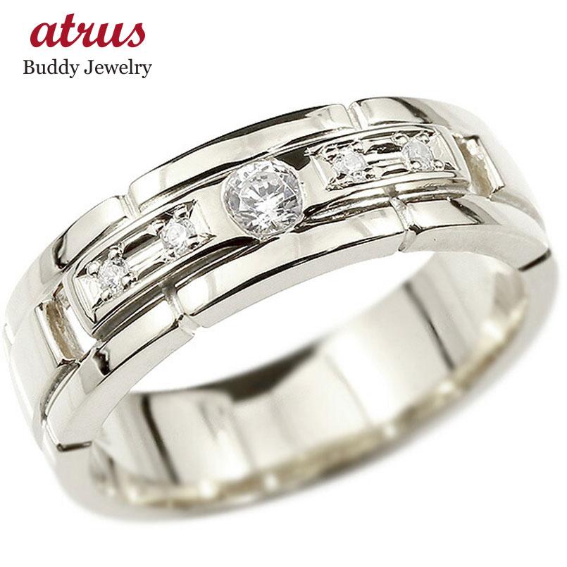 婚約指輪 リング ホワイトゴールドk10 キュービックジルコニア エンゲージリング 指輪 幅広 ピンキーリング 10金 宝石 レディース ストレート 妻 嫁 奥さん 女性 彼女 娘 母 祖母 パートナー