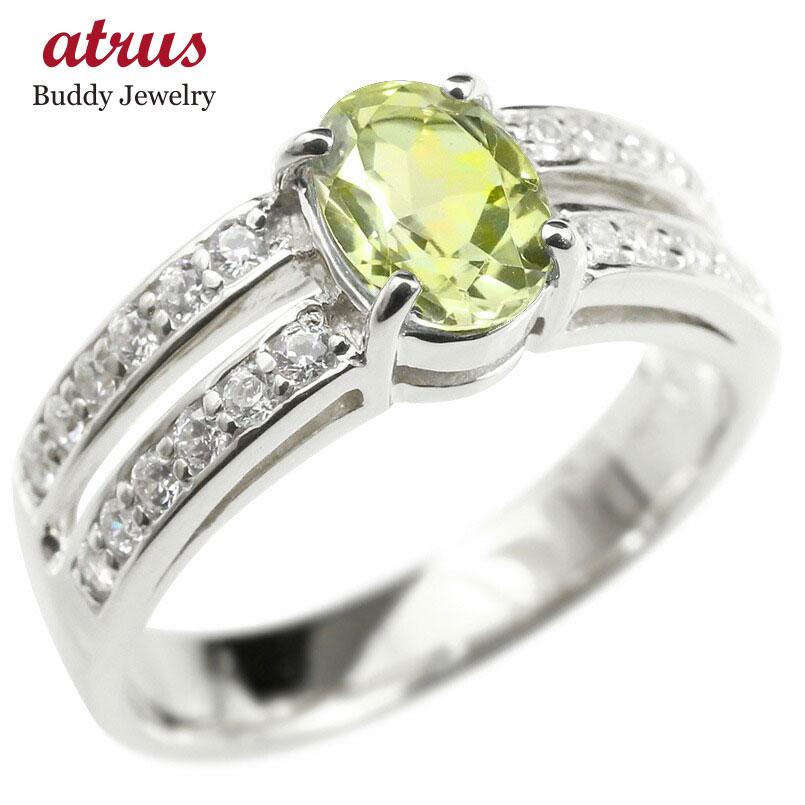 プラチナリング キュービックジルコニア ペリドット 婚約指輪 ピンキーリング 指輪 幅広 エンゲージリング pt900 レディース 送料無料