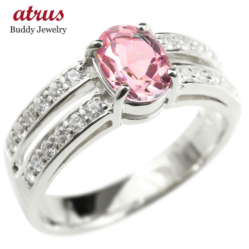 プラチナリング ダイヤモンド ピンクトルマリン 婚約指輪 ピンキーリング ダイヤ 指輪 幅広 エンゲージリング pt900 レディース 送料無料