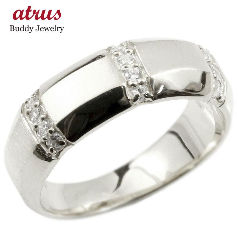 婚約指輪 プラチナリング キュービックジルコニア エンゲージリング 指輪 幅広 サテン仕上げ ピンキーリング pt900 宝石 レディース 送料無料