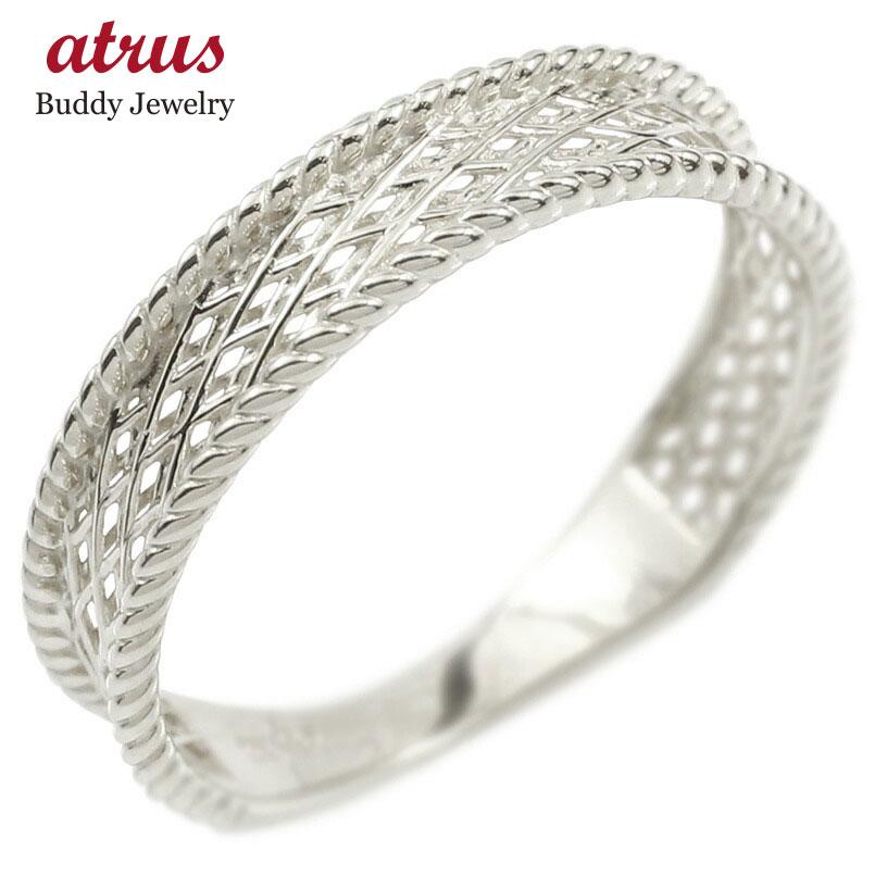 プラチナ リング レディース 指輪 pt900 透かし 婚約指輪 安い シンプル ピンキーリング 地金 女性 送料無料