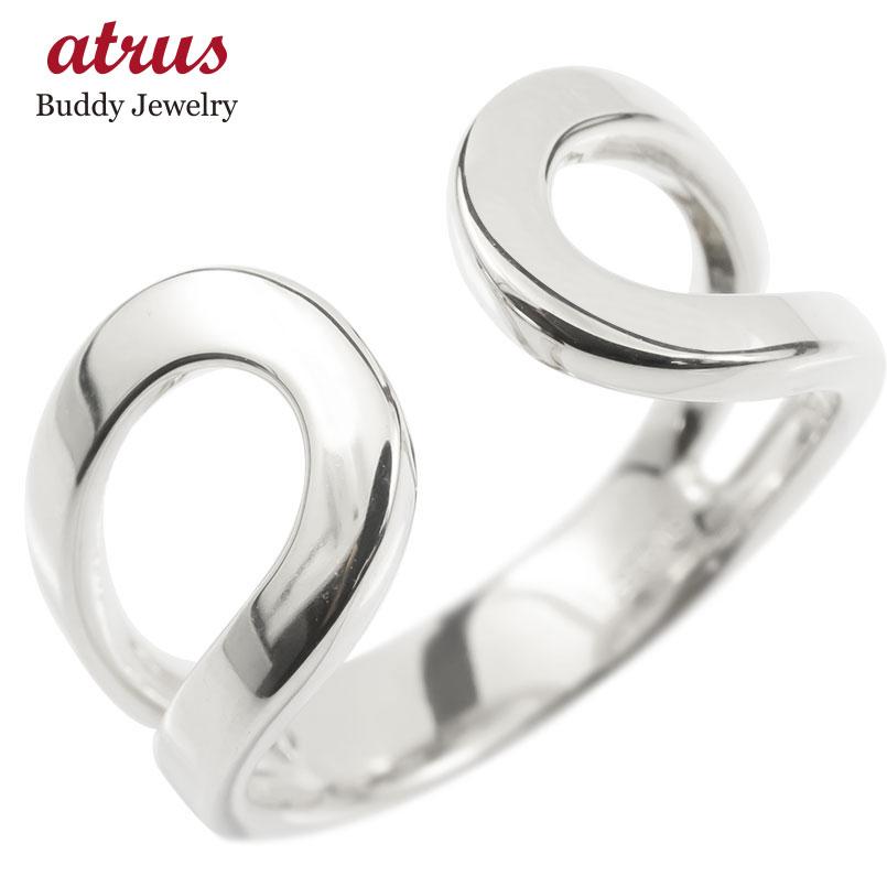 18金 リング ゴールド リング レディース 指輪 18k ホワイトゴールドk18 フリーサイズ 婚約指輪 安い シンプル ピンキーリング 地金 女性 送料無料