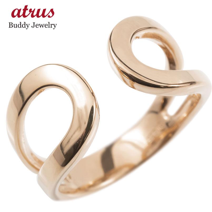 ゴールド リング レディース 指輪 10k ピンクゴールドk10 フリーサイズ 婚約指輪 安い シンプル ピンキーリング 地金 女性 送料無料