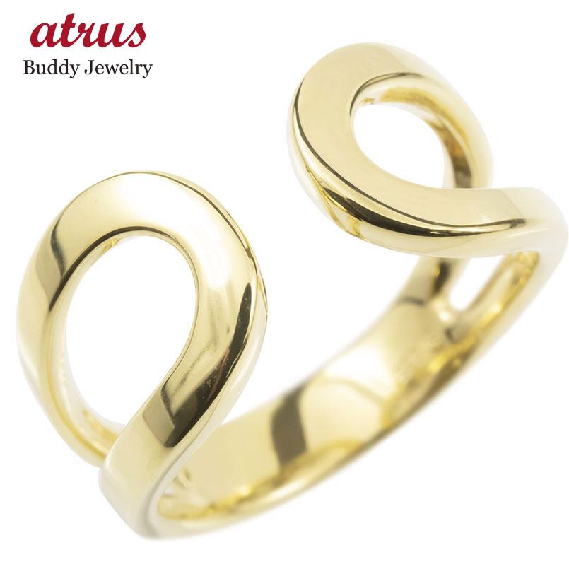 ゴールド リング レディース 指輪 10k イエローゴールドk10 フリーサイズ 婚約指輪 安い シンプル ピンキーリング 地金 女性 送料無料