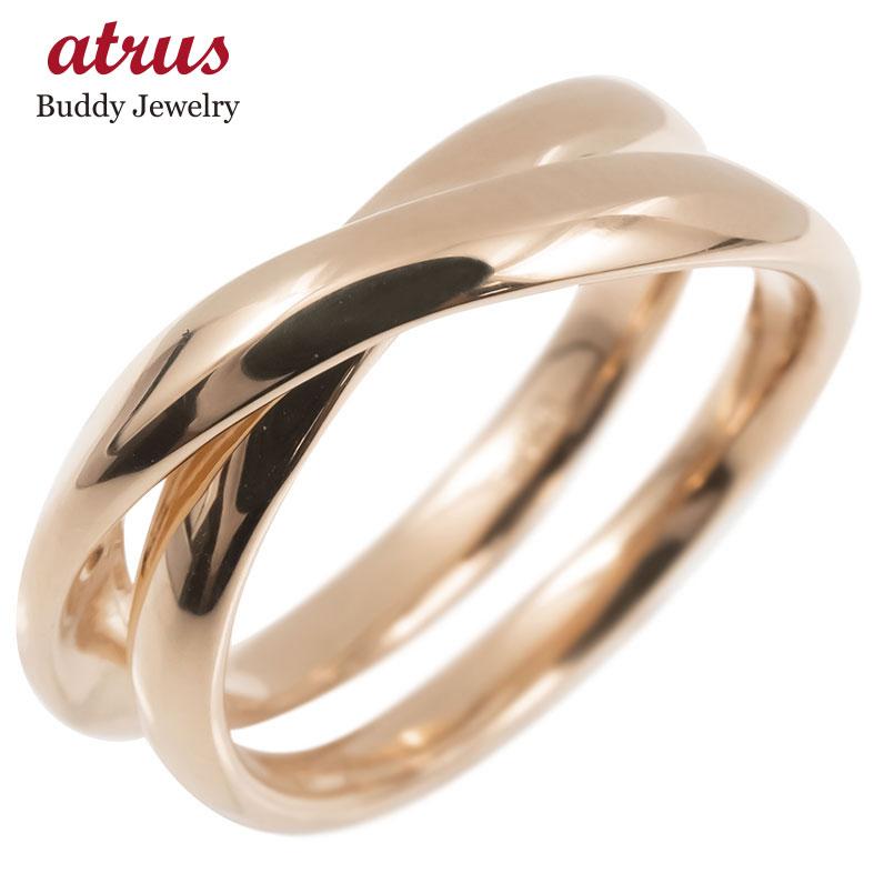 18金 リング ゴールド リング レディース 指輪 18k ピンクゴールドk18 フリースタイル 婚約指輪 安い シンプル ピンキーリング 地金 女性 送料無料