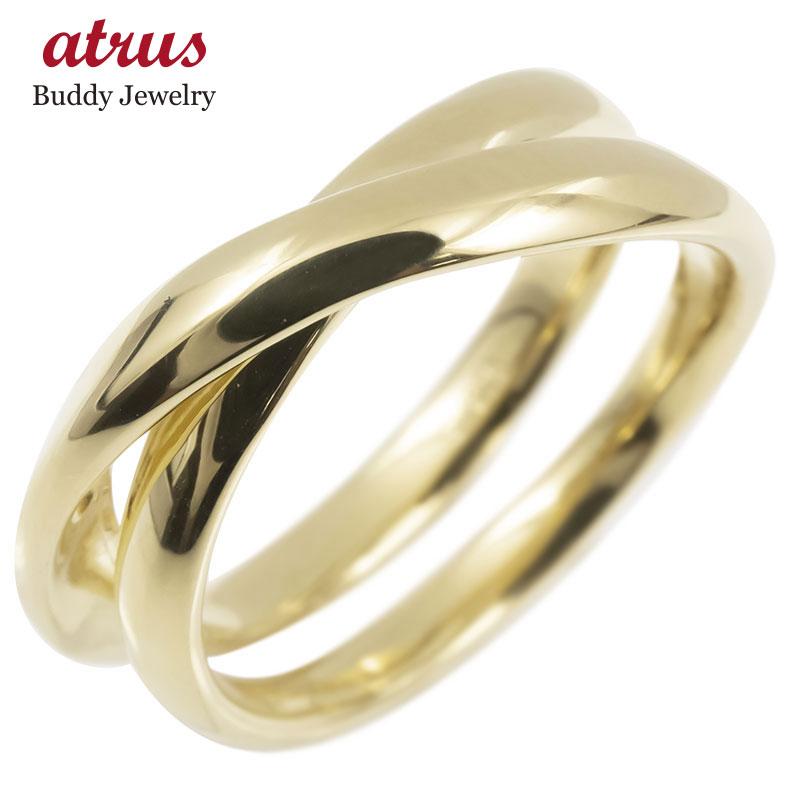 ゴールド リング レディース 指輪 10k イエローゴールドk10 フリースタイル 婚約指輪 安い シンプル ピンキーリング 地金 女性 送料無料
