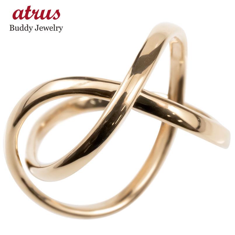 ゴールド リング レディース 指輪 10k ピンクゴールドk10 フリースタイル 婚約指輪 安い シンプル ピンキーリング 地金 女性 送料無料