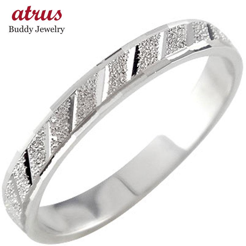 プラチナリング 指輪 カットリング ダイヤモンドカット ピンキーリング ダイヤ ストレート 送料無料
