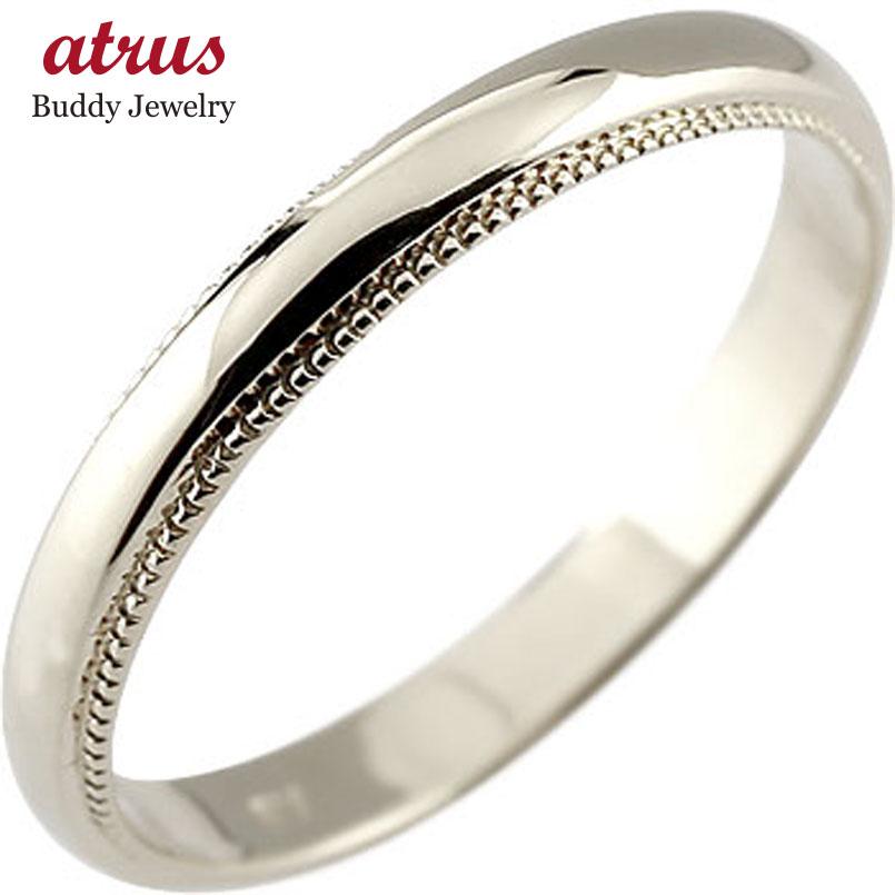 ピンキーリング プラチナ リング 指輪 甲丸 地金リング ミル打ち 宝石なし ストレート 2.3 送料無料