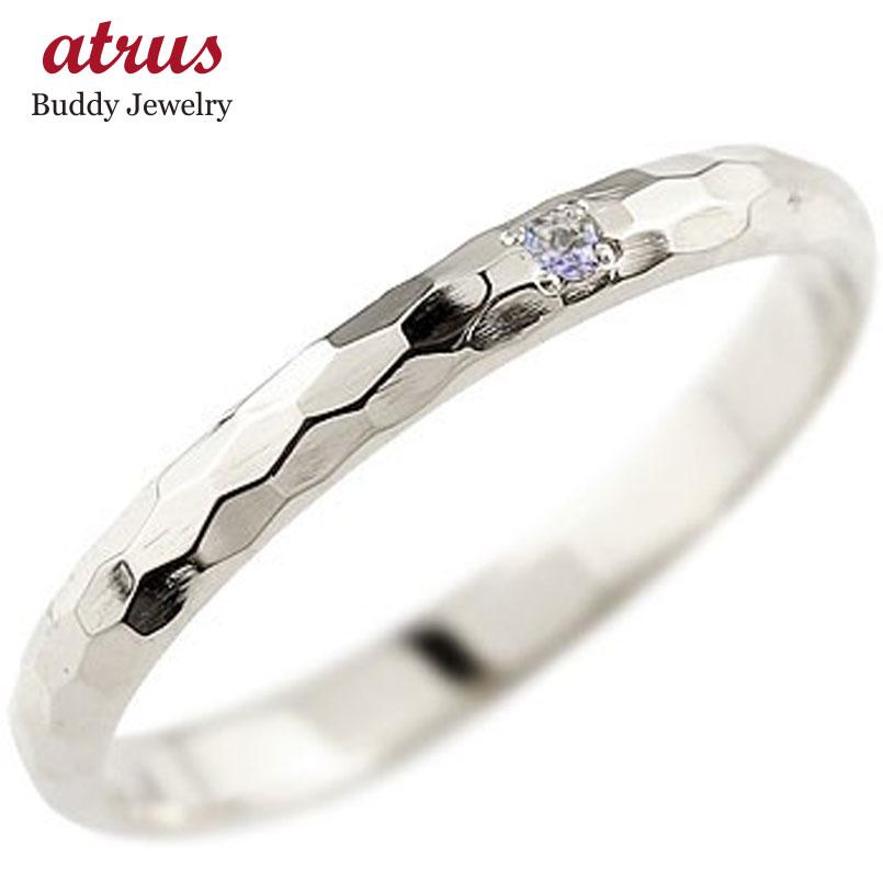 ピンキーリング タンザナイト プラチナリング 指輪 一粒 12月誕生石 ストレート 2.3 宝石 送料無料