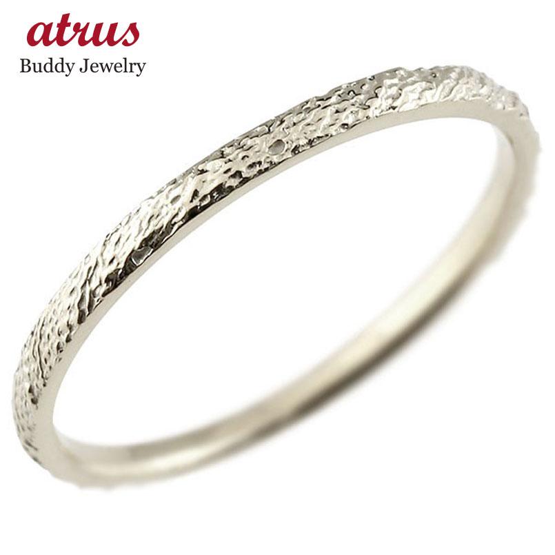 ハードプラチナリング ピンキーリング pt950 極細 華奢 アンティーク ストレート 指輪 送料無料