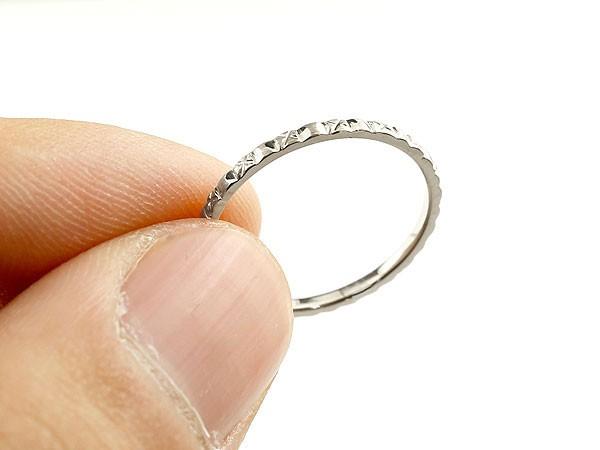 ハードプラチナリング ピンキーリング pt950 極細 華奢 アンティーク ストレート 指輪 地金リング 送料無料Ybyvf76g