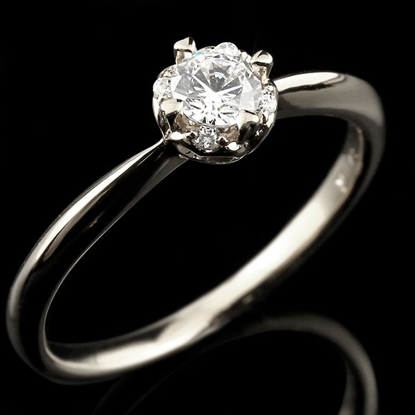 ロマンティックな光 正規品 さりげないハートモチーフがポイント ホワイトゴールド リング ダイヤモンド ハート 誕生日プレゼント 指輪 一粒 k18 ホワイトゴールドリング 18金 ダイヤモンドリング 大粒 ダイヤ 送料無料