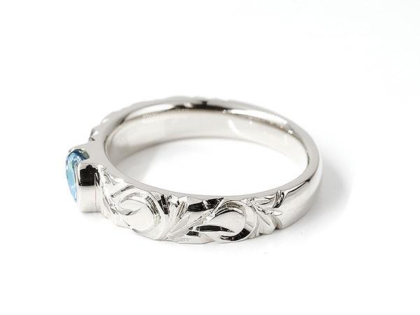 ハワイアンジュエリー プラチナリング ブルートパーズ 指輪 プラチナ900 幅広 一粒 大粒 ハワイアン マイレ スクロール 1ZXTkuPOi