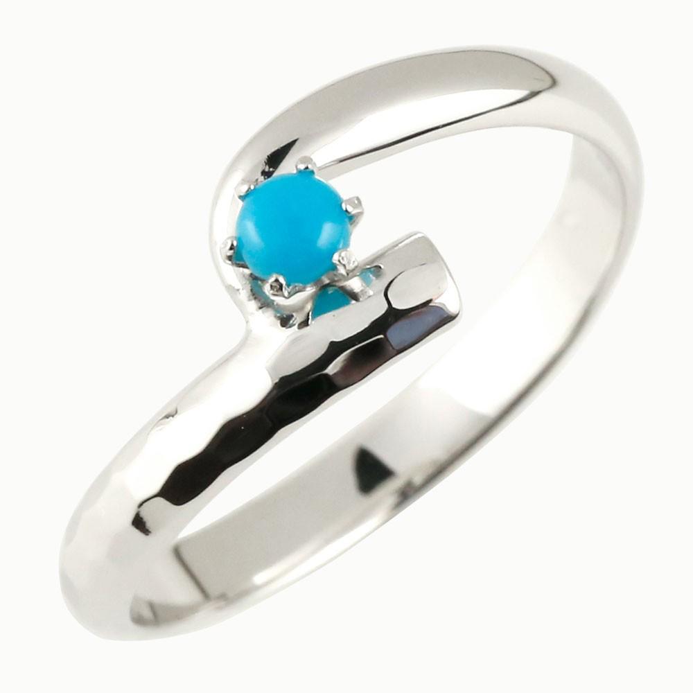 ピンキーリング アンティーク トルコ 指輪 プラチナリング 12月誕生石 ストレート 宝石 送料無料