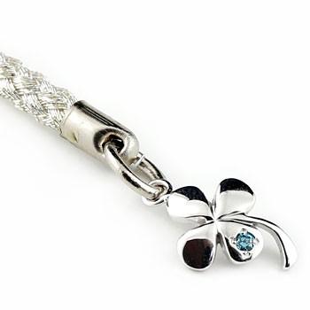 四つ葉クローバーダイヤモンド 携帯電話ストラップ プラチナ900 ダイヤ 宝石