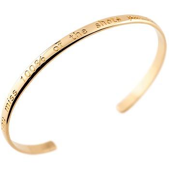 メンズ バングル ブレスレット ピンクゴールドk18 文字入れ 刻印 シンプル 地金 18金 男性用 贈り物 誕生日プレゼント ギフト エンゲージリングのお返し