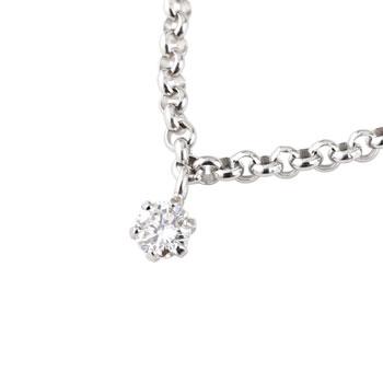 一粒 ブレスレット プラチナ850 ダイヤモンド 0.08ct プラチナ ブレスレット チェーン ダイヤ 贈り物 誕生日プレゼント ギフト ファッション 妻 嫁 奥さん 女性 彼女 娘 母 祖母 パートナー 母の日