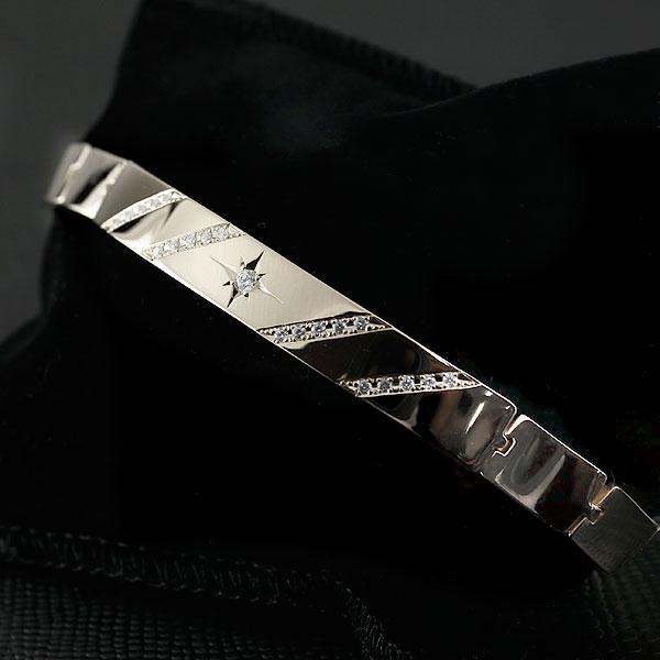 メンズ ブレスレット シルバー925 キュービックジルコニア 幅広 地金 sv925 男性用 FF 贈り物 誕生日プレゼント ギフト エンゲージリングのお返し