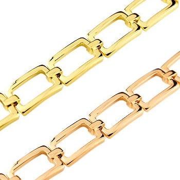 ブレスレット ペアブレスレット ブレスレット ピンクゴールドk18 イエローゴールドk18 地金ブレスレット 18金 シンプル カップル パートナー 送料無料