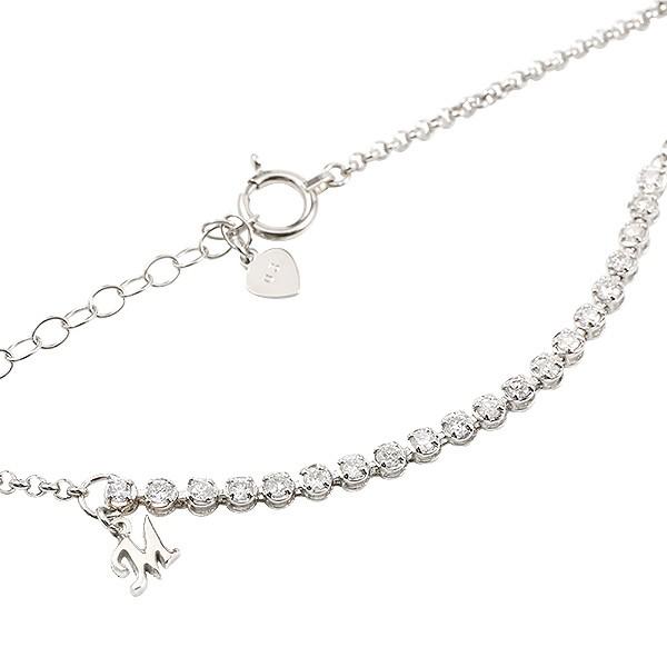 プラチナブレスレット エタニティ ダイヤモンド イニシャル ブレス pt900 0.3ct レディース アジャスターチェーン付き 送料無料