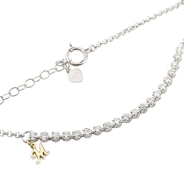 プラチナブレスレット レディース エタニティ イエローゴールドk18 ダイヤモンド イニシャル ブレス pt900 0.3ct アジャスターチェーン付き 18金 送料無料