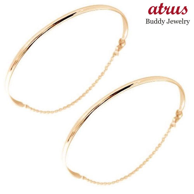 ペアバングル ブレスレット メンズ レディース 人気 ブレスレット ペアバングル ペアブレスレット ピンクゴールドk18 レディース メンズ カップル 18金 送料無料 人気