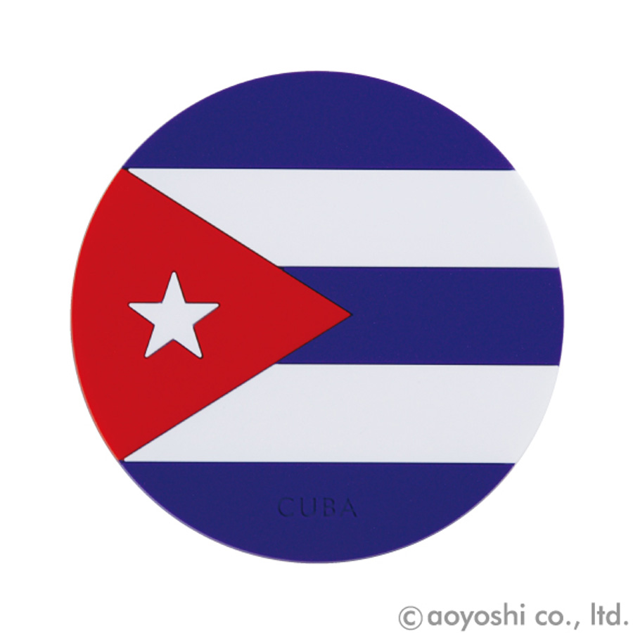 世界の国旗シリーズ パーティにも☆ 国旗柄コースター キューバ 028052 ワールドフラッグコースター CUBA ストア アイテム勢ぞろい