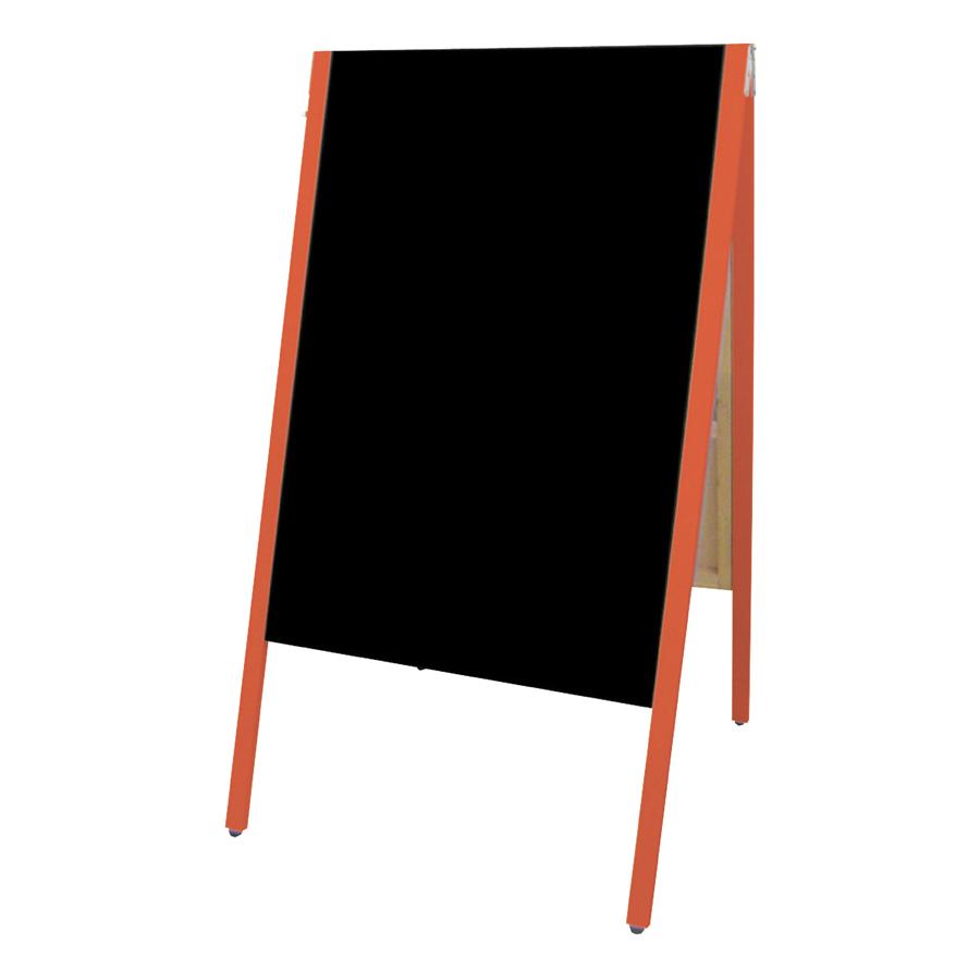 A型看板(特大) SAI-C90R チョーク用 レッド枠・黒板・木製・両面 サイロA型ブラックボード チョークタイプ