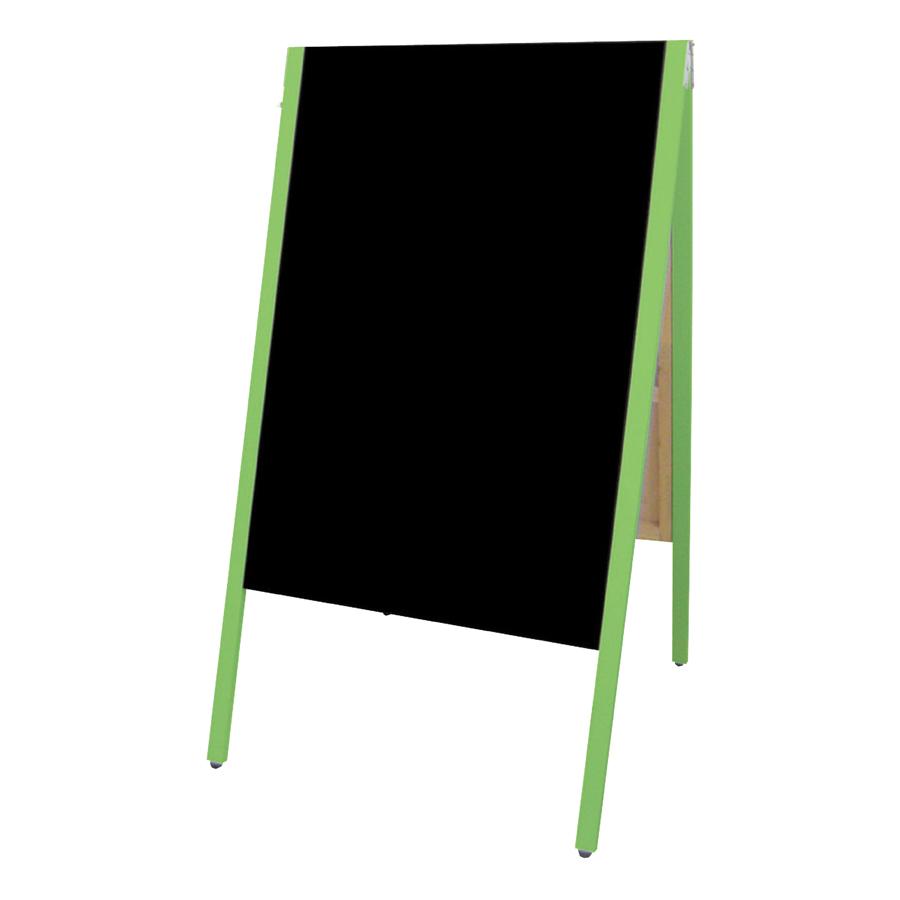 A型看板(特大) SAI-C90G チョーク用 グリーン枠・黒板・木製・両面 サイロA型ブラックボード チョークタイプ
